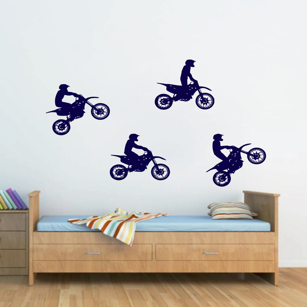 ik264 Wall Decal Sticker Decor motocross moto bike racer race speed adrenaline