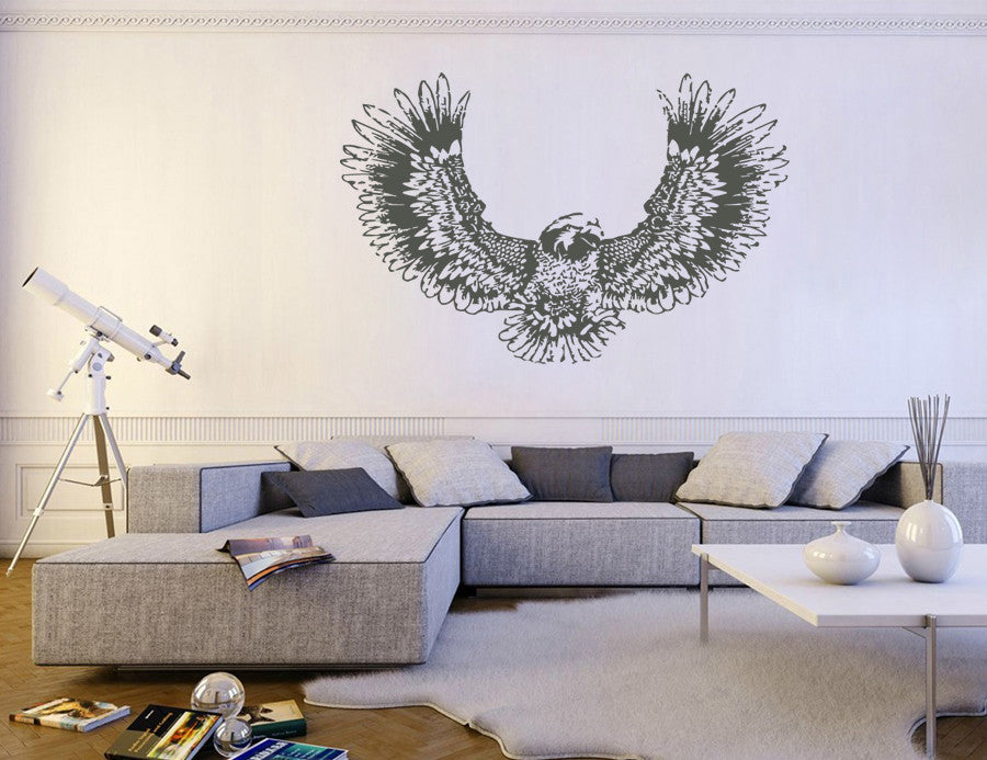 ik272 Wall Decal Sticker Decor falcon prey steppe birds interior bed