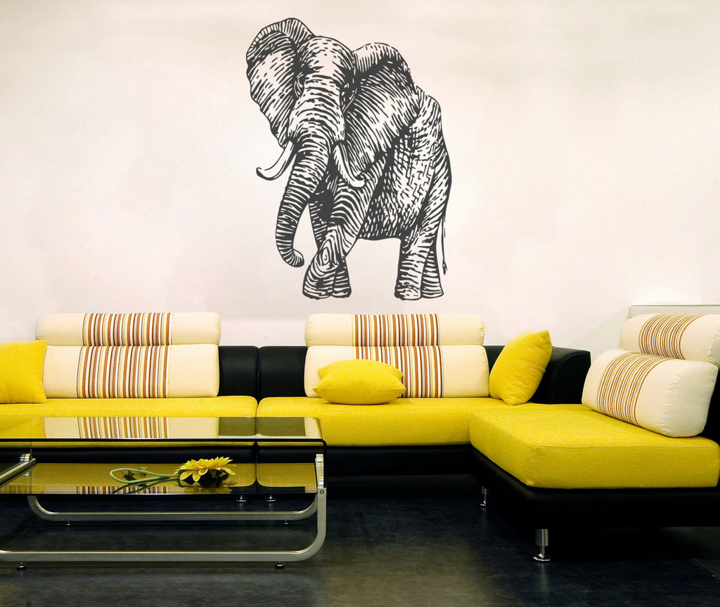 ik273 Wall Decal Sticker Decor elephant interior bed