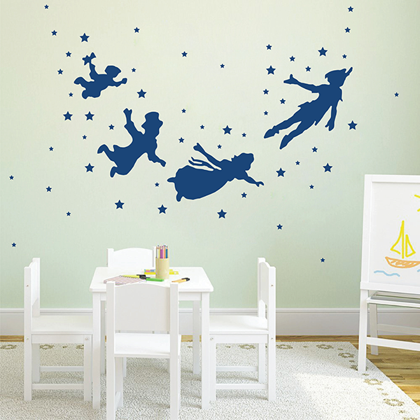 ik2798 Wall Decal Sticker Peter Pan fairy tale of Big Ben room children\'s  bedroom