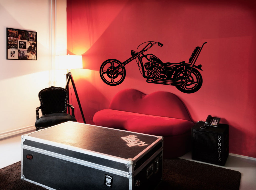 ik282 Wall Decal Sticker Decor motorcycle moto speed bike interior bed
