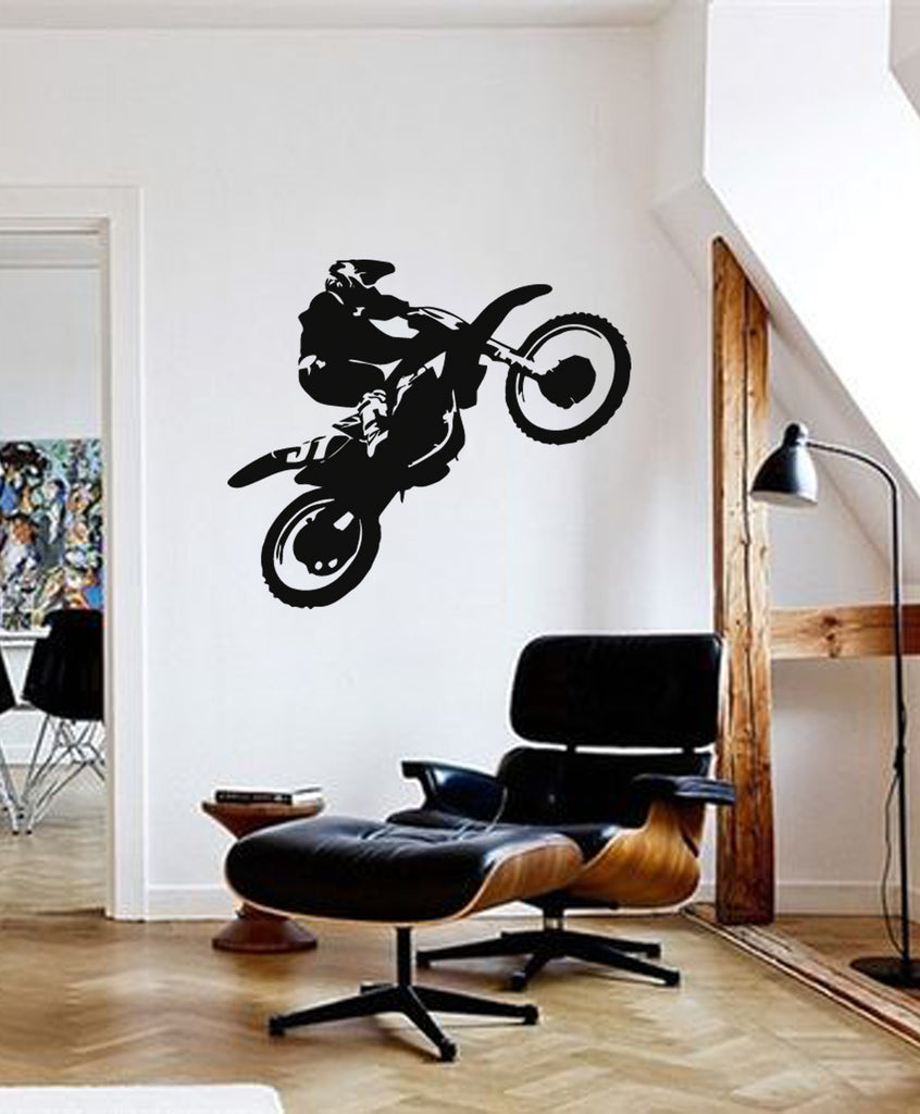 ik285 Wall Decal Sticker Decor motocross moto bike racer race speed adrenaline
