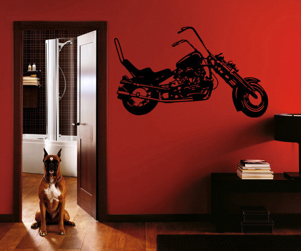 ik286 Wall Decal Sticker Decor motorcycle moto speed bike adrenaline interior