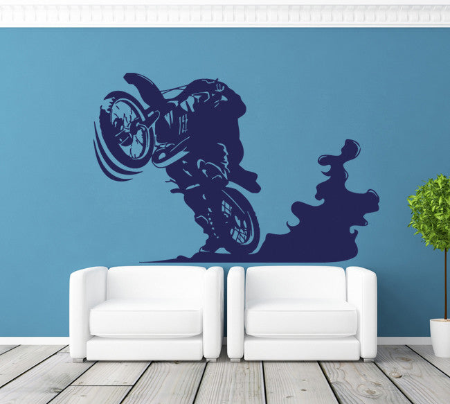 ik289 Wall Decal Sticker Decor motocross moto bike racer race speed adrenaline