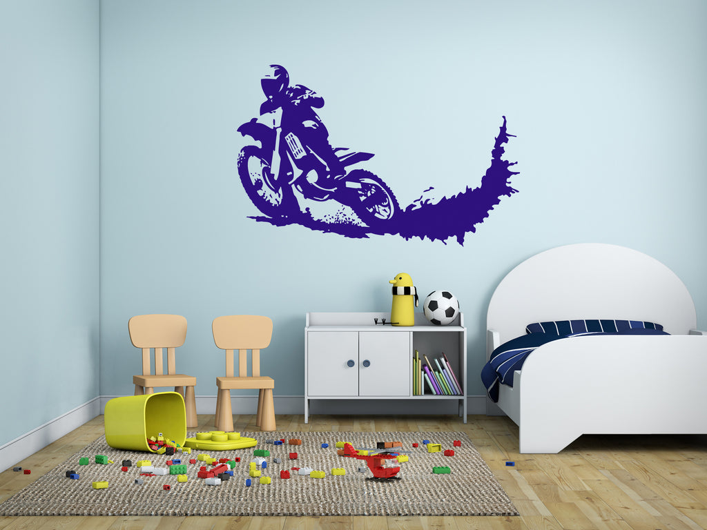 ik292 Wall Decal Sticker Decor motocross moto bike racer race speed adrenaline