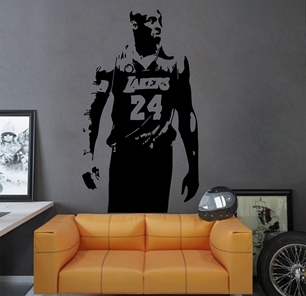 ik2931 Wall Decal Sticker Lakers Kobe Bryant sports hall bedroom