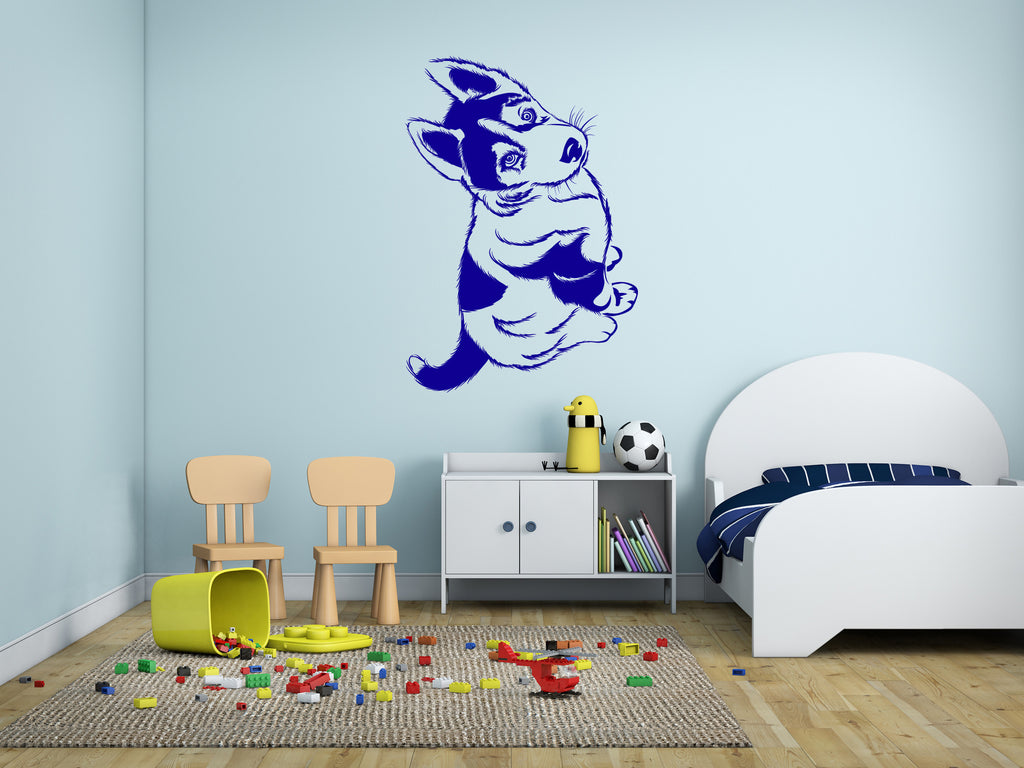 ik294 Wall Decal Sticker Decor cute puppy husky dog pet interior bed
