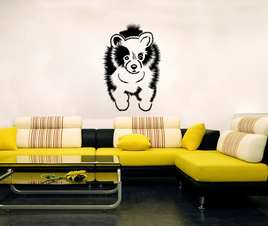 ik296 Wall Decal Sticker Decor cute dog Spitz animal interior kids