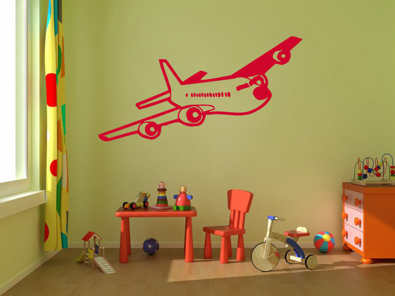 ik308 Wall Decal Sticker Decor airliner kids bedroom