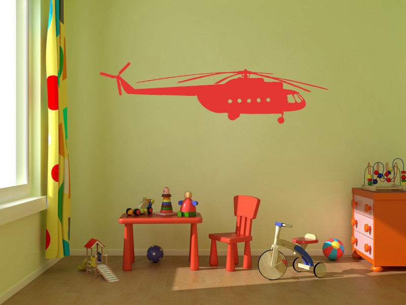 ik309 Wall Decal Sticker Decor helicopter in the sky lounge kids bedroom