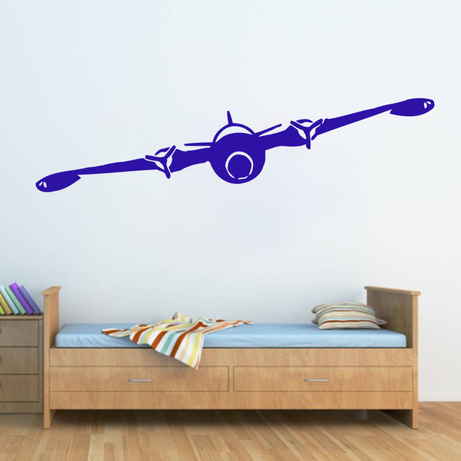 ik310 Wall Decal Sticker Decor plane in the sky lounge kids bedroom