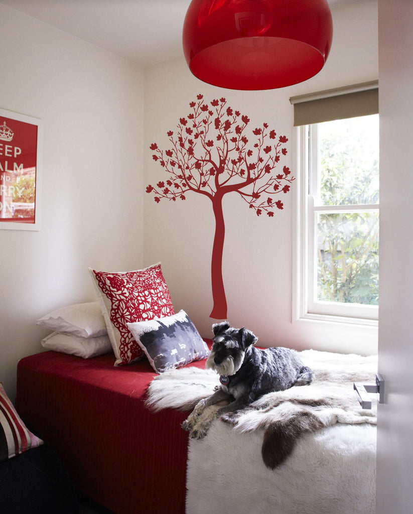 ik313 Wall Decal Sticker Decor maple tree bedroom kids