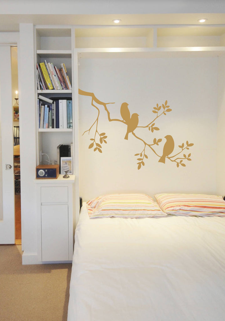 ik316 Wall Decal Sticker Decor bird tree branch kids bedroom