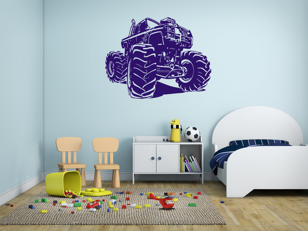 ik317 Wall Decal Sticker Decor big machine kids bedroom