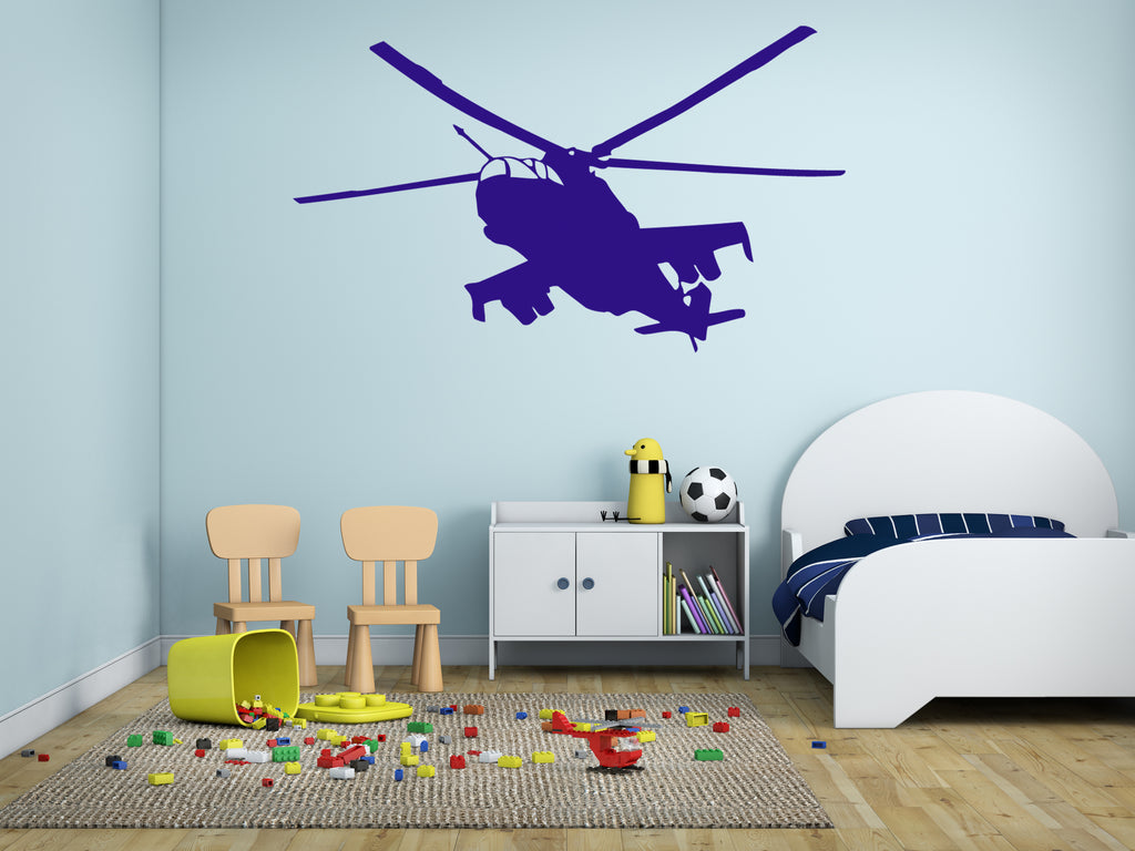 ik320 Wall Decal Sticker Decor military helicopter sky lounge kids bedroom