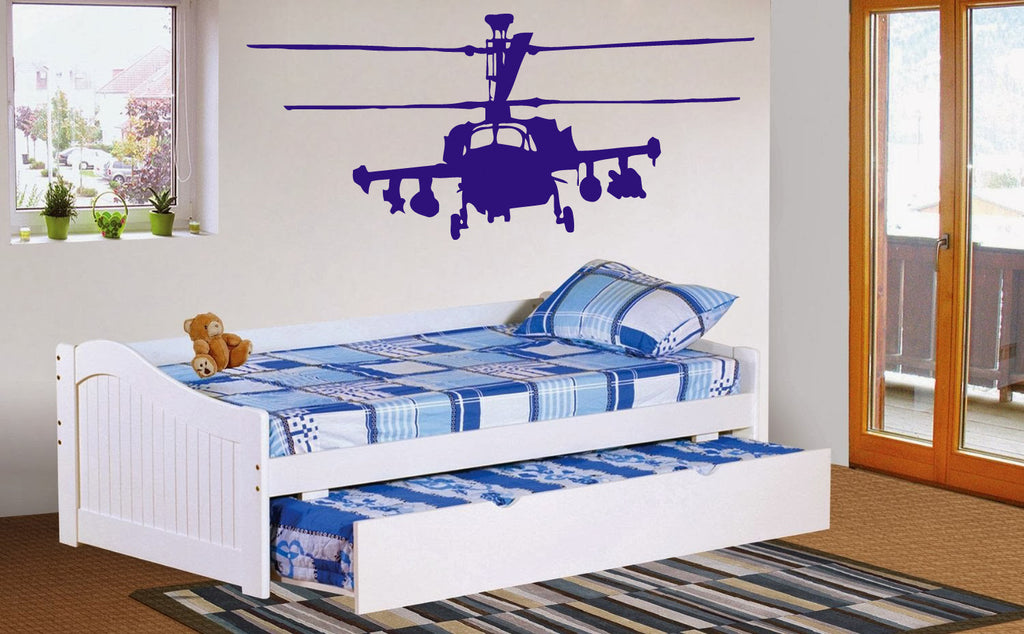 ik332 Wall Decal Sticker Decor military helicopter fly sky air