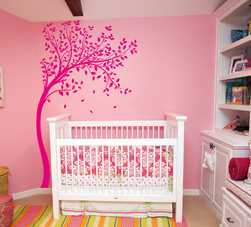 ik333 Wall Decal Sticker Decor tree inclined kids bedroom