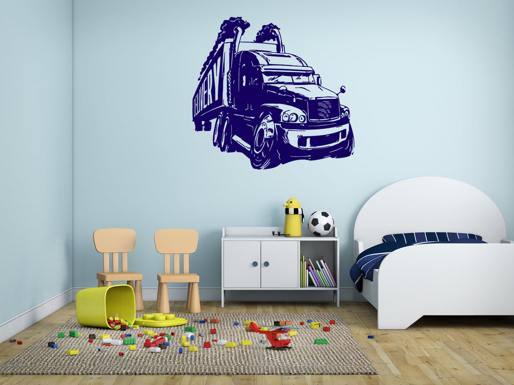 ik334 Wall Decal Sticker Decor big car van kids bedroom