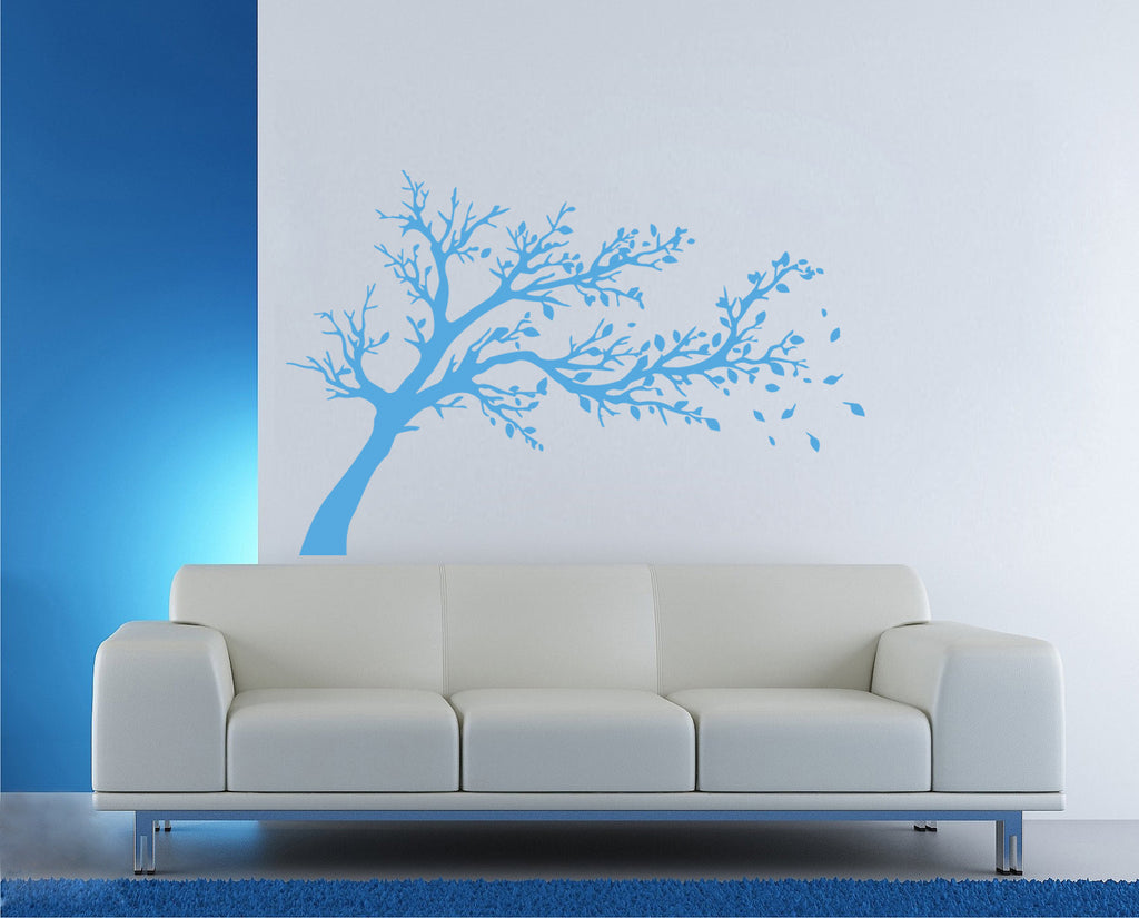 ik338 Wall Decal Sticker Decor wood wind fallen leaves kids bedroom