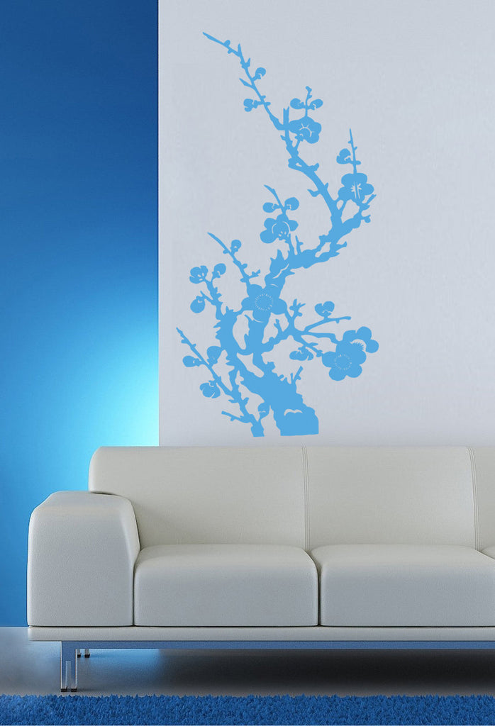 ik349 Wall Decal Sticker Japanese sakura cherry tree flower kids bedroom