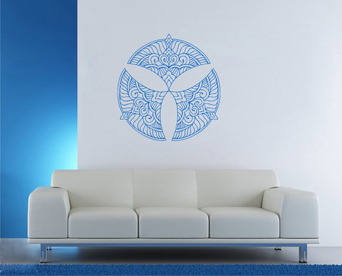 ik355 Wall Decal Sticker mandala hamsa hand Buddha Hindu Hinduism Ornament