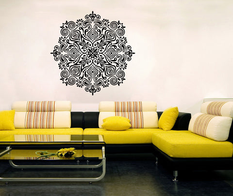 ik356 Wall Decal Sticker mandala hamsa hand Buddha Hindu Hinduism Ornament