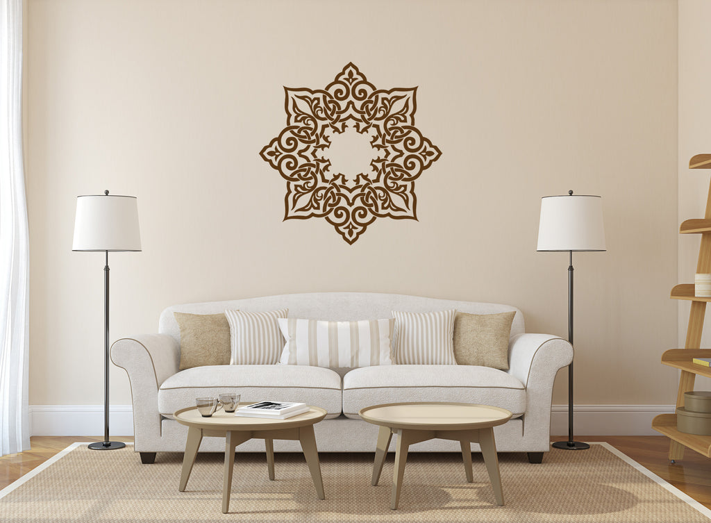 ik357 Wall Decal Sticker mandala hamsa hand Buddha Hindu Hinduism Ornament