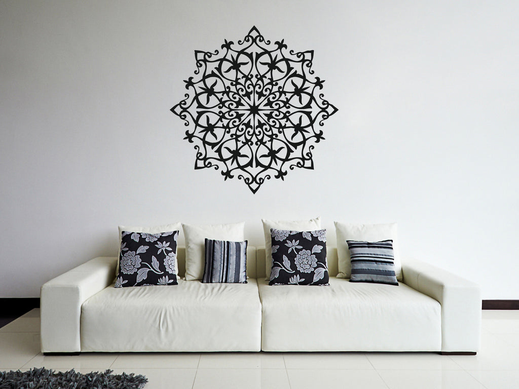 ik358 Wall Decal Sticker mandala hamsa hand Buddha Hindu Hinduism Ornament