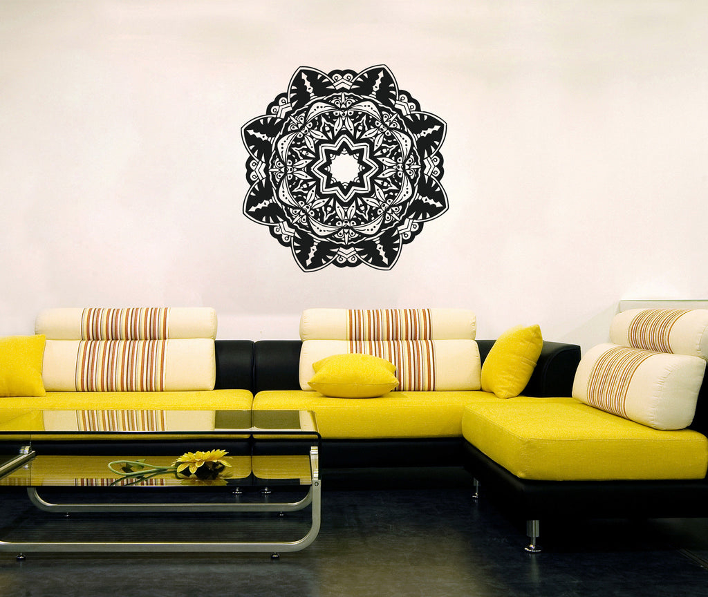ik363 Wall Decal Sticker mandala hamsa hand Buddha Hindu Hinduism Ornament