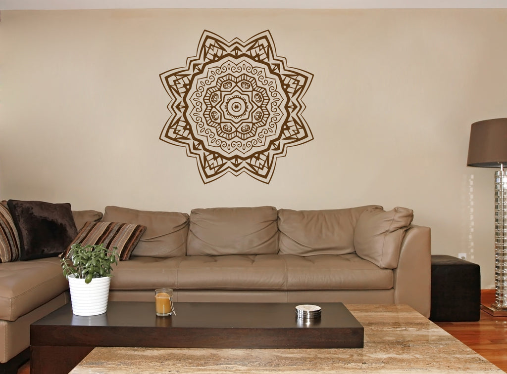 ik364 Wall Decal Sticker mandala hamsa hand Buddha Hindu Hinduism Ornament