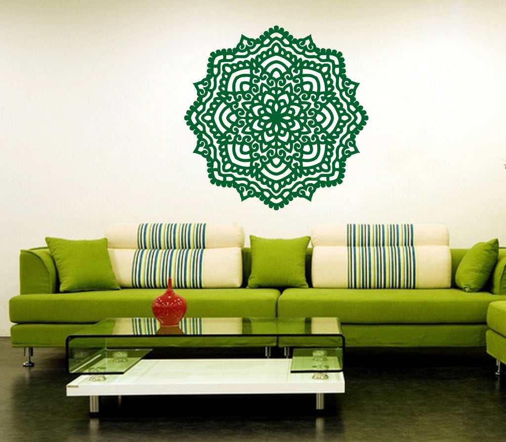 ik365 Wall Decal Sticker mandala hamsa hand Buddha Hindu Hinduism Ornament