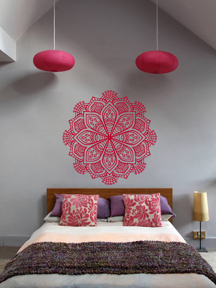 ik368 Wall Decal Sticker mandala hamsa hand Buddha Hindu Hinduism Ornament