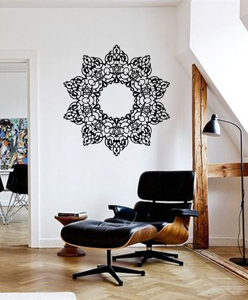 ik370 Wall Decal Sticker mandala hamsa hand Buddha Hindu Hinduism Ornament