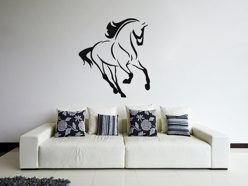 ik375 Wall Decal Sticker galloping loshal dogtrot animal bedroom