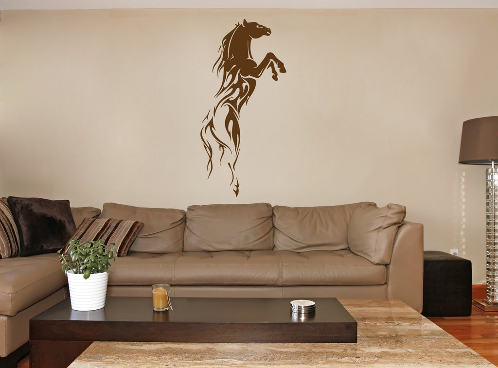 ik383 Wall Decal Sticker prancing horse speed animal bedroom