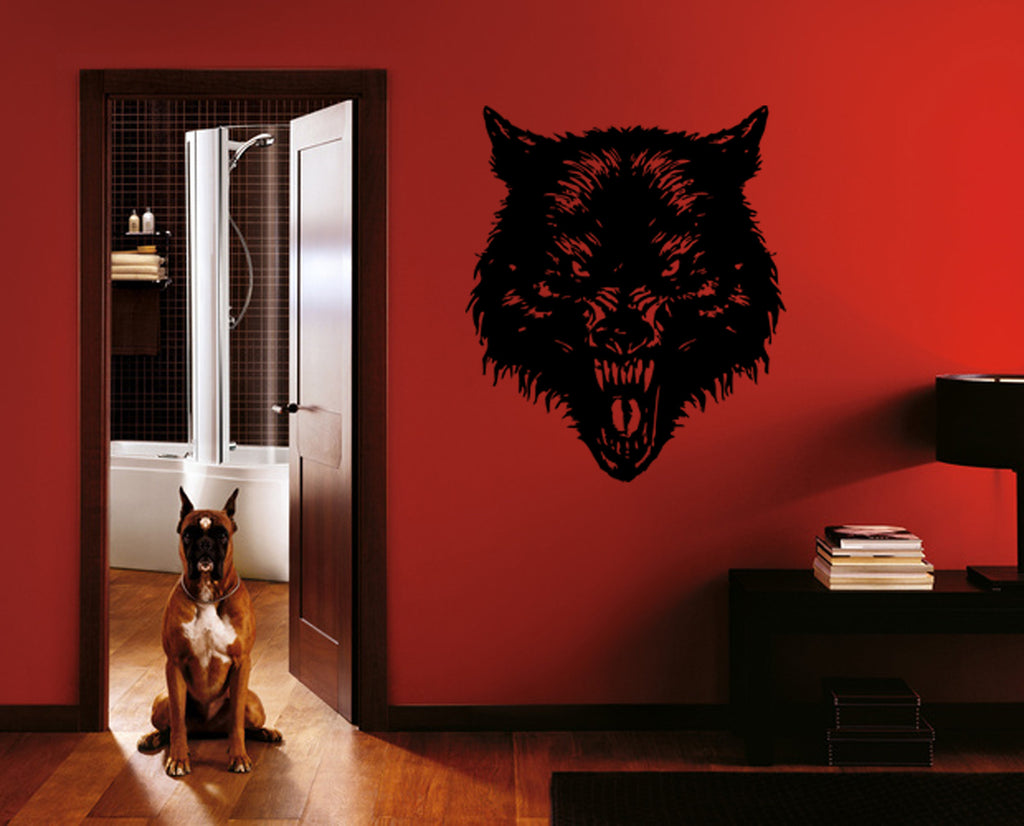 ik384 Wall Decal Sticker wolf grin animal bedroom