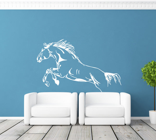 ik389 Wall Decal Sticker galloping horse animal running jog bedroom