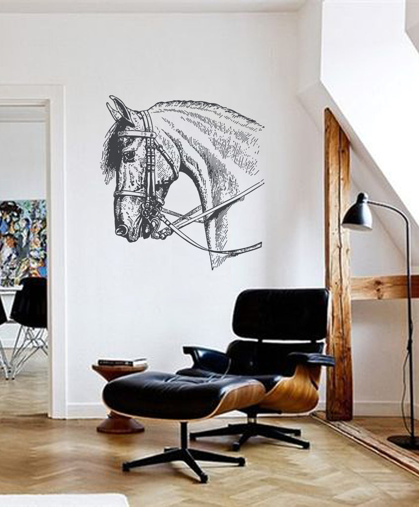 ik390 Wall Decal Sticker horse animal bedroom