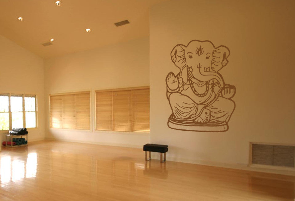 ik476 Wall Decal Sticker Ganesha Om Elephant Hindu welfare meditation Yoga