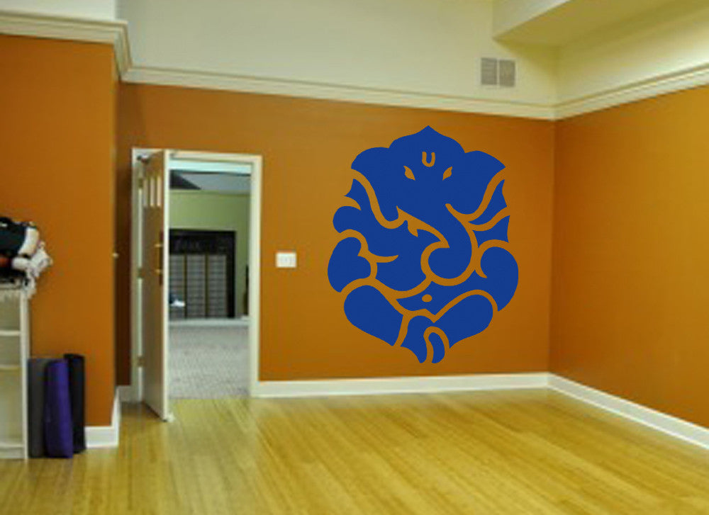 ik480 Wall Decal Sticker Ganesha Om Elephant Hindu welfare meditation Yoga