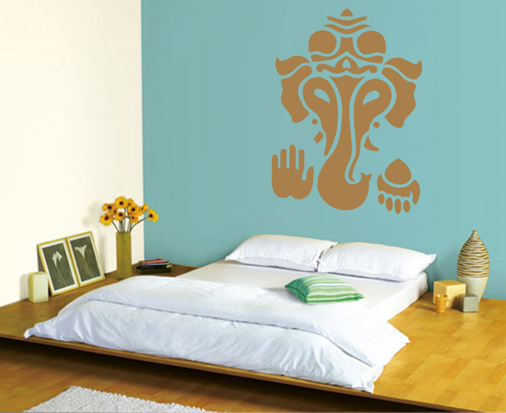 ik481 Wall Decal Sticker Ganesha Om Elephant Hindu welfare meditation Yoga