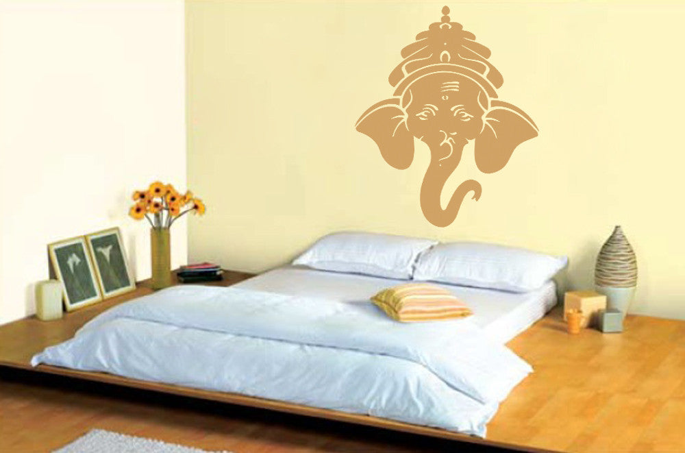 ik492 Wall Decal Sticker Ganesha Om Elephant Hindu welfare meditation Yoga