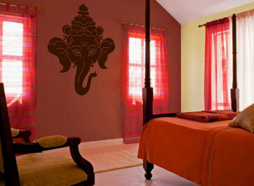 ik493 Wall Decal Sticker Ganesha Om Elephant Hindu welfare meditation Yoga