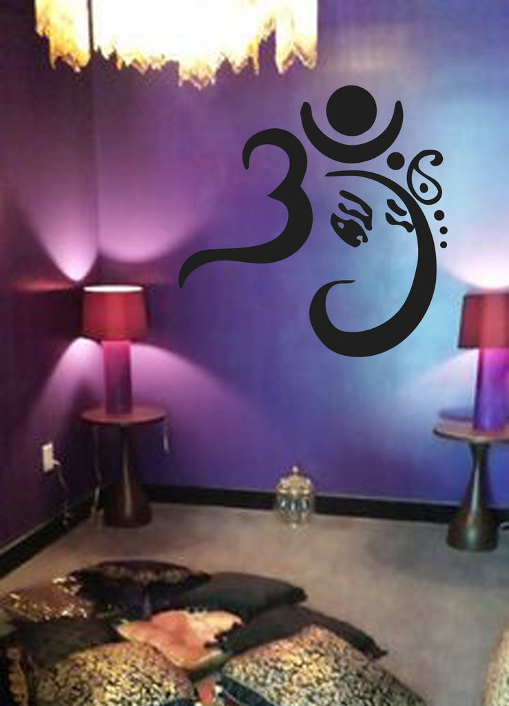 ik503 Wall Decal Sticker Om India Hinduism syaschenny style bedroom meditation