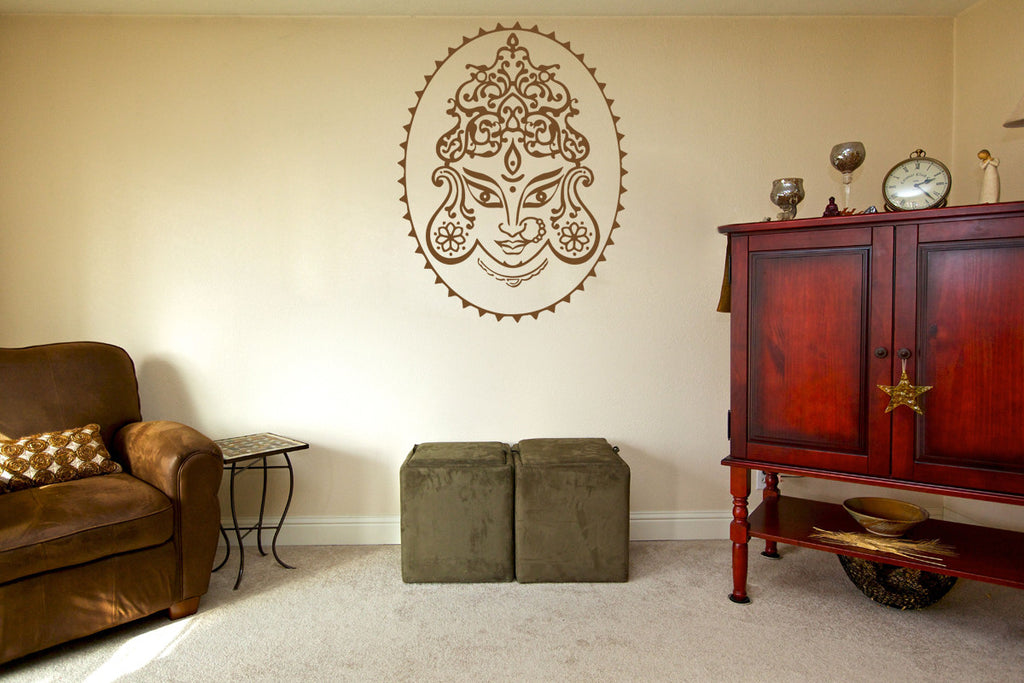 ik505 Wall Decal Sticker Ganesha Om Elephant Hindu welfare meditation Yoga