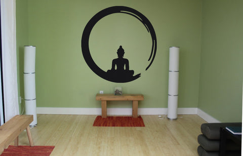 ik532 Wall Decal Sticker Decor Art buddha china buddhism yoga meditation hall