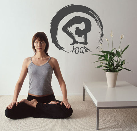 ik540 Wall Decal Sticker Art Yoga Hinduism Buddhism meditation lotus meditation