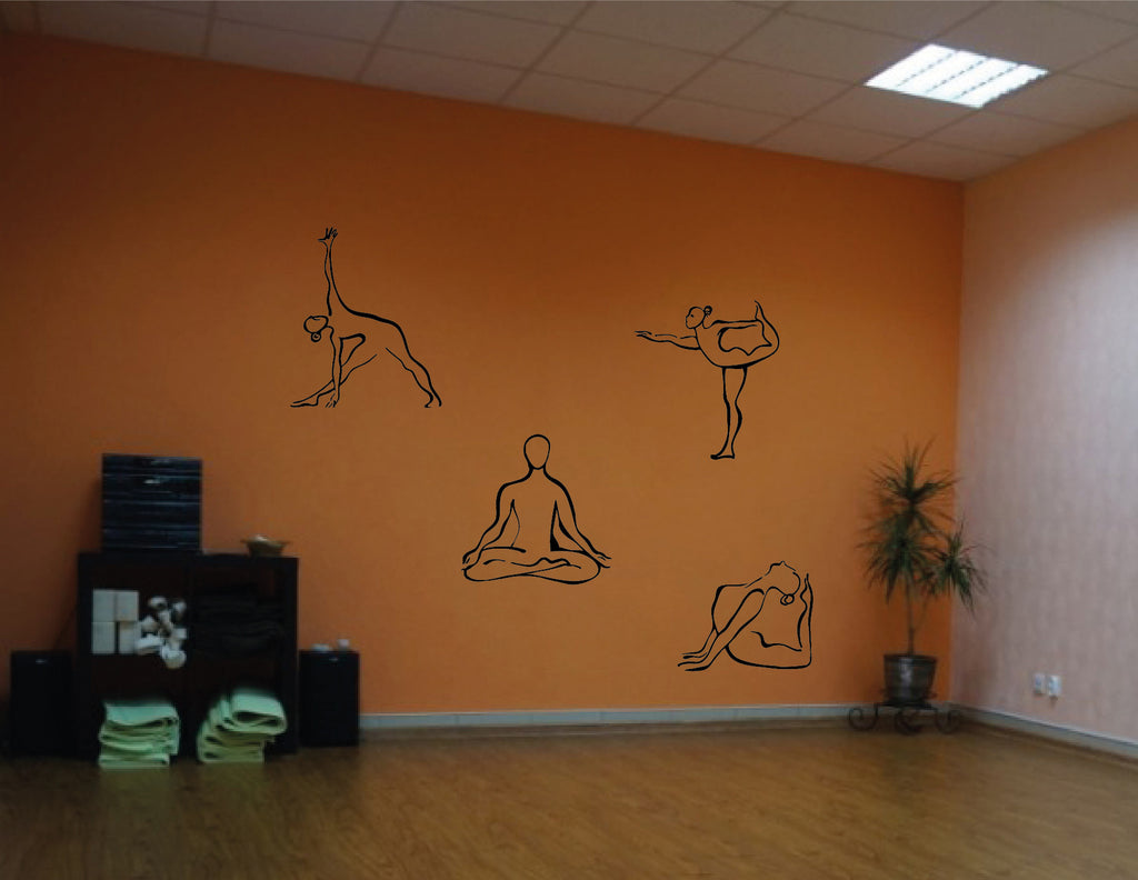 ik544 Wall Decal Sticker Art Yoga Hinduism Buddhism meditation lotus meditation