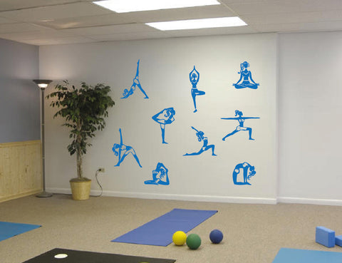 ik550 Wall Decal Sticker Art Yoga Hinduism Buddhism meditation lotus meditation
