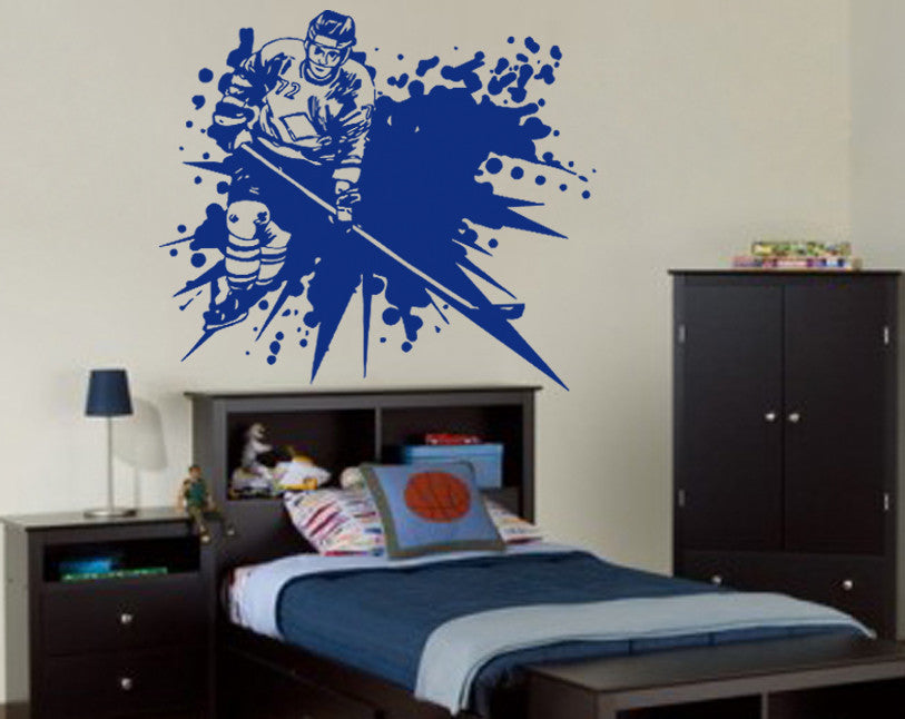 ik557 Wall Decal Sticker hockey stick puck rink sport team game kids bedroom